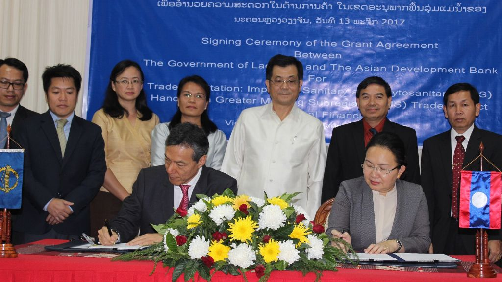 ADB, Lao PDR Sign Agreement to Enhance Sanitary, Phytosanitary Management Systems
