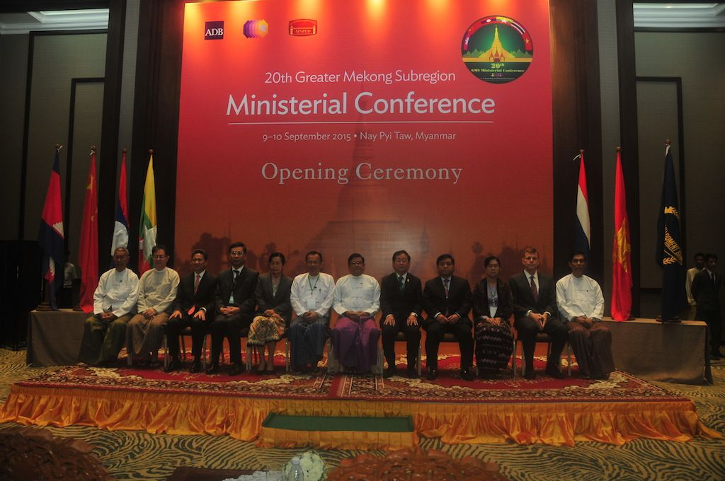 Participants at the 20th GMS Ministerial Meeting. Photo: ADB.